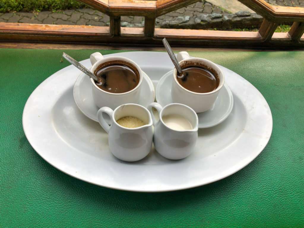 Alam Asriで用意してもらったコーヒー